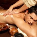 massage homme huile décontractante